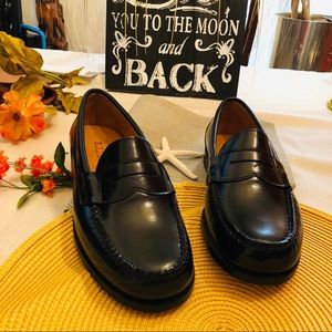 LL Bean Black Leather Penny (Men) Loafers size 8